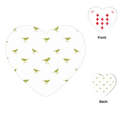 Birds Motif Pattern Playing Cards (heart)  by dflcprints