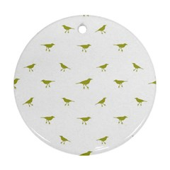 Birds Motif Pattern Round Ornament (two Sides) by dflcprints