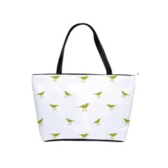 Birds Motif Pattern Shoulder Handbags by dflcprints