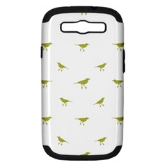 Birds Motif Pattern Samsung Galaxy S Iii Hardshell Case (pc+silicone) by dflcprints