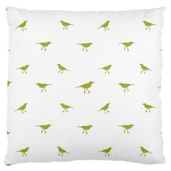Birds Motif Pattern Large Flano Cushion Case (two Sides) by dflcprints