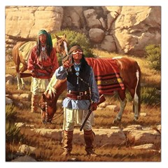 Apache Braves Large Satin Scarf (square) by allthingseveryone