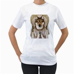 Cherokee Indian Dream Catcher Women s T Shirt (white)  by AllThingsEveryone