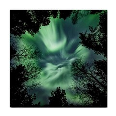 Northern Lights In The Forest Tile Coasters by Ucco