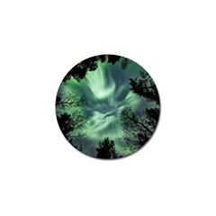 Northern Lights In The Forest Golf Ball Marker (4 Pack) by Ucco