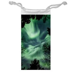 Northern Lights In The Forest Jewelry Bag by Ucco