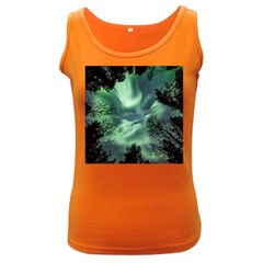 Northern Lights In The Forest Women s Dark Tank Top by Ucco