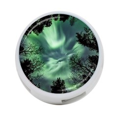 Northern Lights In The Forest 4 Port Usb Hub (two Sides)  by Ucco