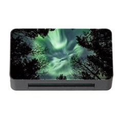 Northern Lights In The Forest Memory Card Reader With Cf by Ucco