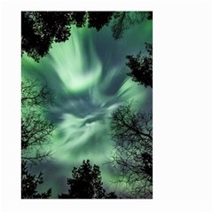 Northern Lights In The Forest Large Garden Flag (two Sides) by Ucco