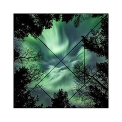 Northern Lights In The Forest Acrylic Tangram Puzzle (6  X 6 ) by Ucco