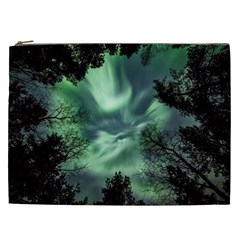 Northern Lights In The Forest Cosmetic Bag (xxl)  by Ucco