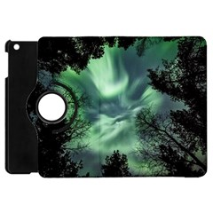 Northern Lights In The Forest Apple Ipad Mini Flip 360 Case by Ucco