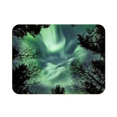 Northern Lights In The Forest Double Sided Flano Blanket (mini)  by Ucco