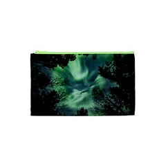 Northern Lights In The Forest Cosmetic Bag (xs) by Ucco