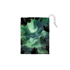Northern Lights In The Forest Drawstring Pouches (xs)  by Ucco