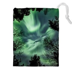 Northern Lights In The Forest Drawstring Pouches (xxl) by Ucco