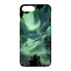 Northern Lights In The Forest Apple Iphone 7 Plus Hardshell Case by Ucco
