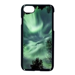 Northern Lights In The Forest Apple Iphone 8 Seamless Case (black)