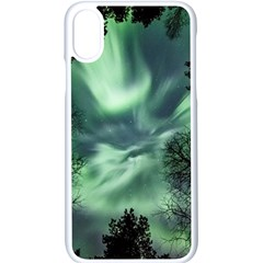 Northern Lights In The Forest Apple Iphone X Seamless Case (white)