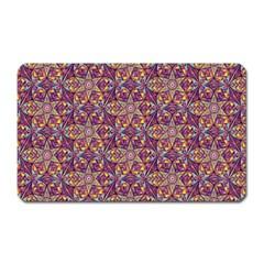 Flower Kaleidoscope 2 01 Magnet (rectangular) by Cveti