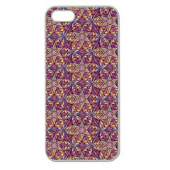 Flower Kaleidoscope 2 01 Apple Seamless Iphone 5 Case (clear) by Cveti