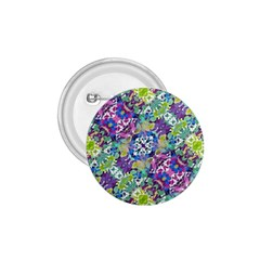 Colorful Modern Floral Print 1 75  Buttons by dflcprints