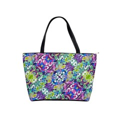 Colorful Modern Floral Print Shoulder Handbags by dflcprints
