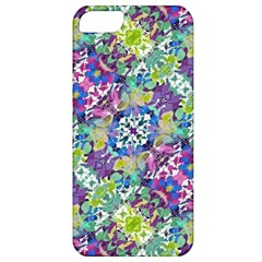 Colorful Modern Floral Print Apple Iphone 5 Classic Hardshell Case by dflcprints