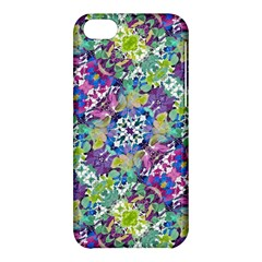 Colorful Modern Floral Print Apple Iphone 5c Hardshell Case by dflcprints