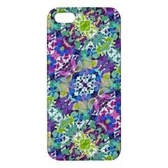 Colorful Modern Floral Print Iphone 5s/ Se Premium Hardshell Case by dflcprints