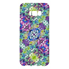 Colorful Modern Floral Print Samsung Galaxy S8 Plus Hardshell Case  by dflcprints