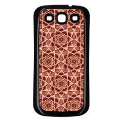 Flower Star Pattern  Samsung Galaxy S3 Back Case (black) by Cveti