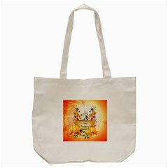 Happy Thanksgiving With Pumpkin Tote Bag (cream) by FantasyWorld7