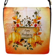 Happy Thanksgiving With Pumpkin Flap Messenger Bag (s) by FantasyWorld7