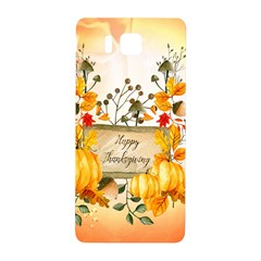 Happy Thanksgiving With Pumpkin Samsung Galaxy Alpha Hardshell Back Case by FantasyWorld7