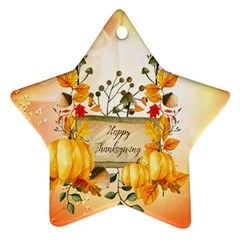 Happy Thanksgiving With Pumpkin Ornament (star) by FantasyWorld7