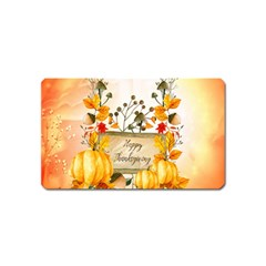 Happy Thanksgiving With Pumpkin Magnet (name Card) by FantasyWorld7