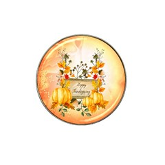 Happy Thanksgiving With Pumpkin Hat Clip Ball Marker (4 Pack) by FantasyWorld7