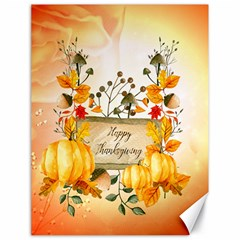 Happy Thanksgiving With Pumpkin Canvas 18  X 24   by FantasyWorld7
