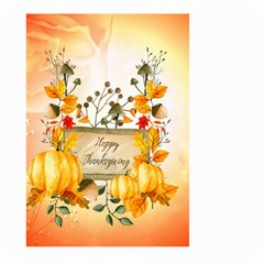 Happy Thanksgiving With Pumpkin Large Garden Flag (two Sides) by FantasyWorld7