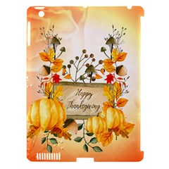 Happy Thanksgiving With Pumpkin Apple Ipad 3/4 Hardshell Case (compatible With Smart Cover) by FantasyWorld7