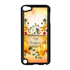 Happy Thanksgiving With Pumpkin Apple Ipod Touch 5 Case (black) by FantasyWorld7