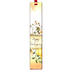 Happy Thanksgiving With Pumpkin Large Book Marks by FantasyWorld7