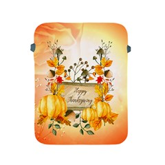 Happy Thanksgiving With Pumpkin Apple Ipad 2/3/4 Protective Soft Cases by FantasyWorld7