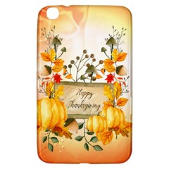 Happy Thanksgiving With Pumpkin Samsung Galaxy Tab 3 (8 ) T3100 Hardshell Case  by FantasyWorld7