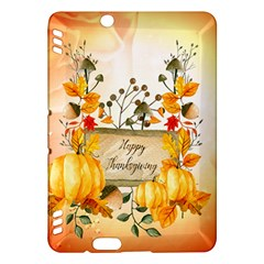 Happy Thanksgiving With Pumpkin Kindle Fire Hdx Hardshell Case by FantasyWorld7