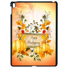 Happy Thanksgiving With Pumpkin Apple Ipad Pro 9 7   Black Seamless Case by FantasyWorld7