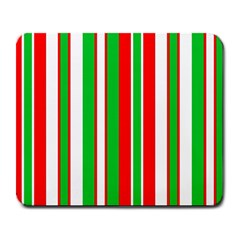 Christmas Holiday Stripes Red Large Mousepads by Celenk