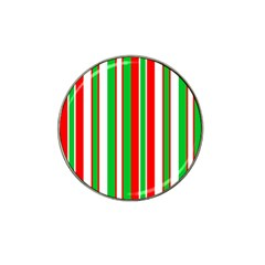 Christmas Holiday Stripes Red Hat Clip Ball Marker (10 Pack) by Celenk